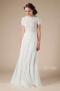 Modest wedding dresses charlize for Modest lace wedding dresses