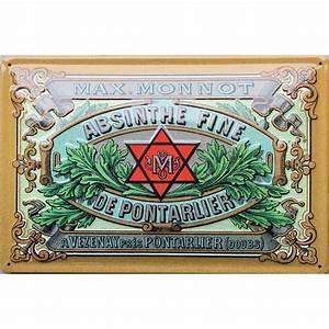 Plaque Publicitaire Métal : plaque m tal publicitaire 20x30 cm bomb e en relief absinthe de p ~ Teatrodelosmanantiales.com Idées de Décoration