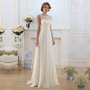 elegant bridal pregnant gowns cheap chiffon empire waist With wedding dresses empire waist