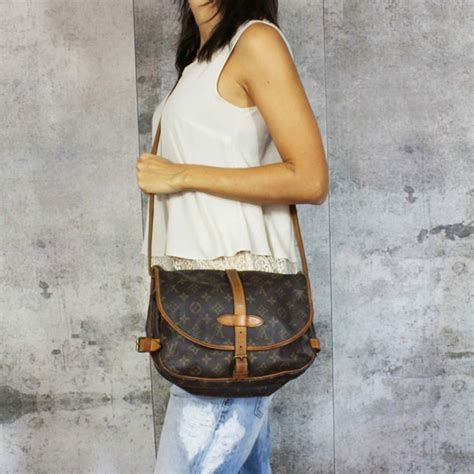 louis vuitton monogram saumur  shoulder bag  minimum price catawiki