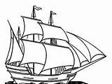 Coloring Boat Ship Sailing Sail Printable Ships Pirate Adults Ferry Clipartmag Drawing Template sketch template