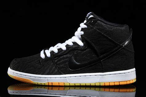 nike sb dunk high skunk black laser orange sneakerfiles