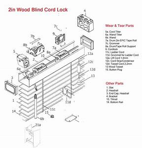 Levolor Wood Blinds Parts - Wiring And Parts Diagram