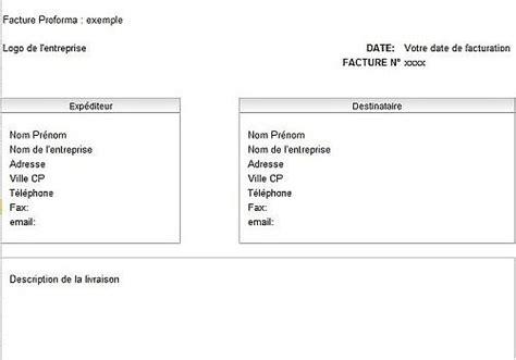 materiel de bureau professionnel modèle de facture pro forma à télécharger