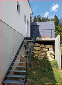 Escalier Exterieur Metal : escalier exterieur moderne terrasse ~ Voncanada.com Idées de Décoration
