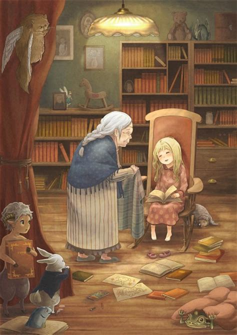 grandmother family zerochan anime image board