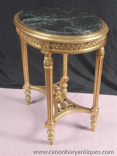 french empire gilt side table marble topped cocktail tables