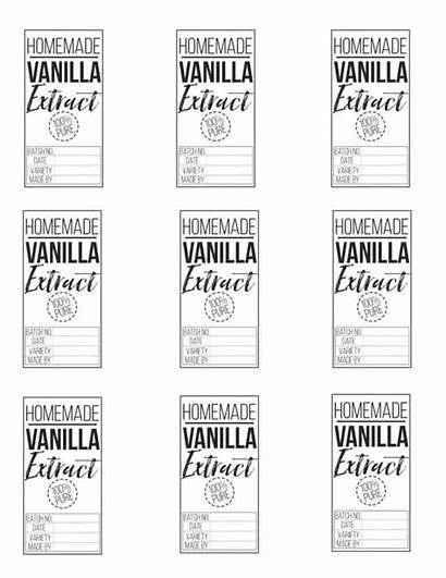 Vanilla Homemade Extract Labels Process Simple