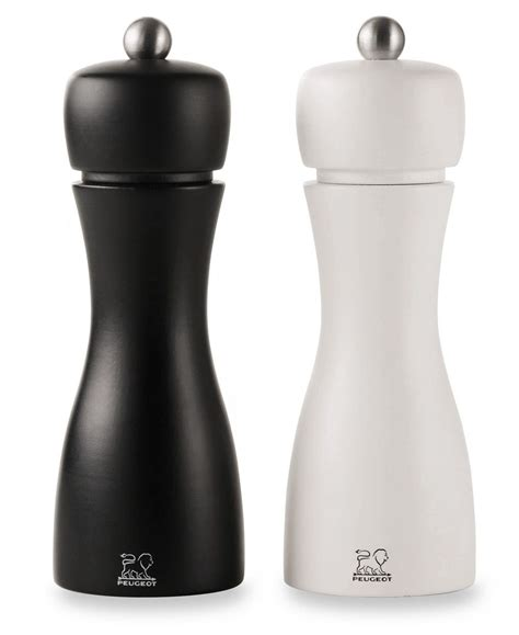 duo moulins sel poivre tahiti u select en bois de h 234 tre noir et blanc peugeot achetez made in