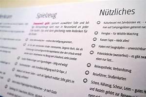 Einverständniserklärung Kind Urlaub Vorlage : der clou die wiederverwendbare packliste ~ Themetempest.com Abrechnung