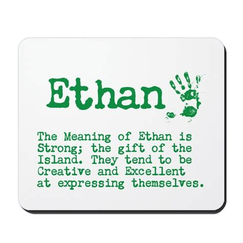 what is the meaning of a the meaning of ethan mousepad by itsallinthename
