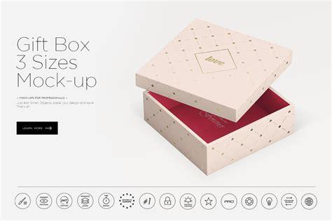 gift box  sizes mock  product mockups creative market