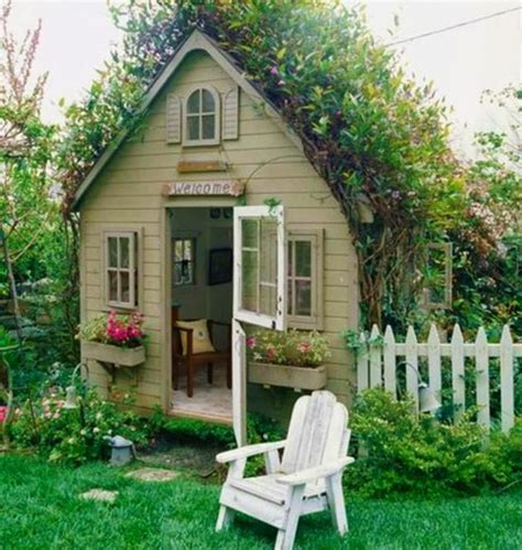 Backyard Cottage Playhouse - garden potting sheds