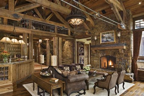rustic home interior rustic house design in style ontario residence
