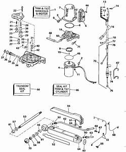 Omc Stern Drive Power Trim And Tilt Parts For 1990 2 3 L