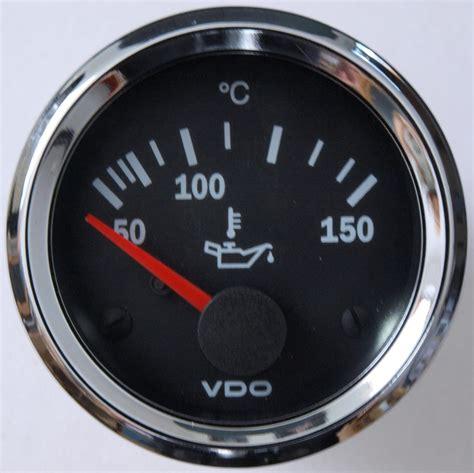 Slspeed Fahrzeugteile  VDO Chrom Öltemperaturanzeige