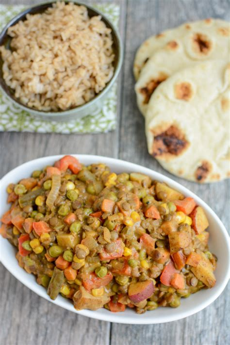 vegetable dinner recipes lentil vegetable curry quick vegetarian recipe
