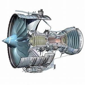 Cutaway Diagram Of Trent 1000 Jet Engine -