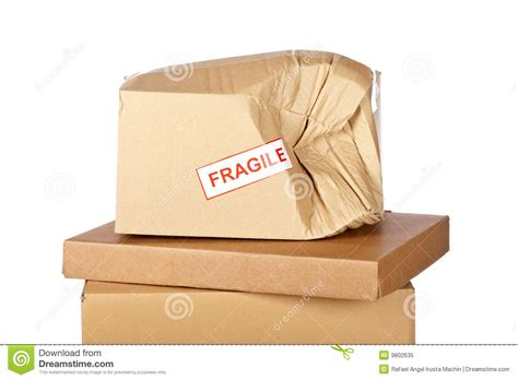 Damaged Cardboard Box Stock Image. Image Of Boxes, Space