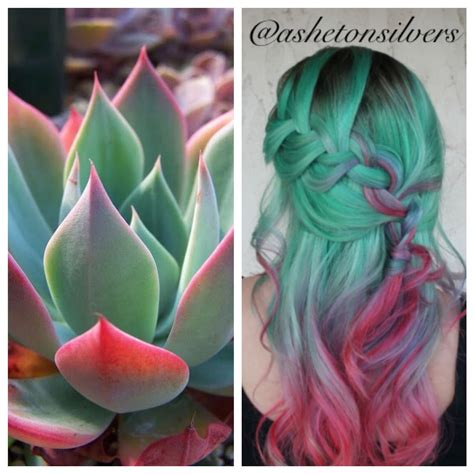 Mint Green Blue Purple Pink And Red Hair