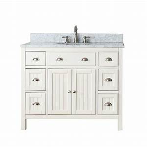 Avanity Hamilton 42-inch W Vanity in French White with
