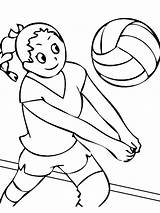 Coloring Volleyball Sports Printable Colornimbus Proceed sketch template