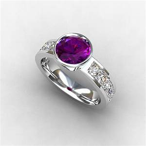 amethyst engagement ring by torkkelijewellery on etsycom With wedding rings with amethyst