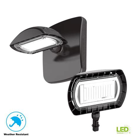commercial electric bronze outdoor integrated led floodlight with wall 1500 lumens
