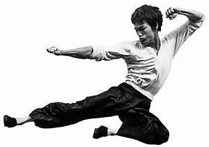 Bruce Lee's Fighting Method Statue of Bruce Lee Flying ...