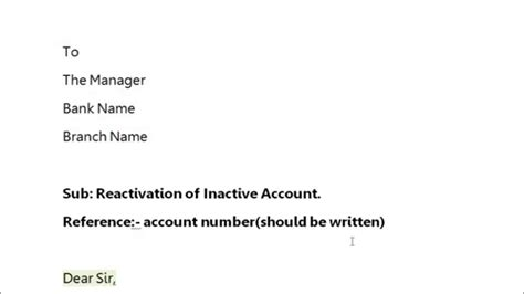 write application  bank manager  reactivate