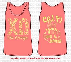 chi omega pattern letters tank sorority clothes custom With greek letter wear