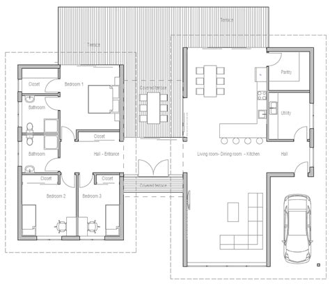 Modern Bathroom Floor Plans by Floor Plan Friday 3 Bedroom Modern House With High
