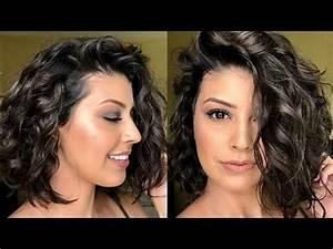 How To: Style Short Wavy/Curly Hair - YouTube  Wavy