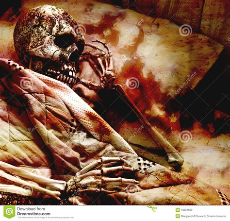 bloody skeleton royalty  stock images image