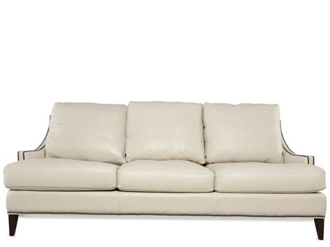 Henredon Loveseat by Henredon Leather Sofa Mathis Brothers Furniture