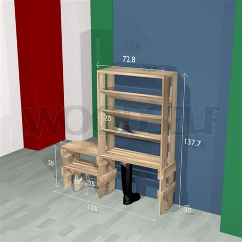 shoe rack woodself  plans  woodworking