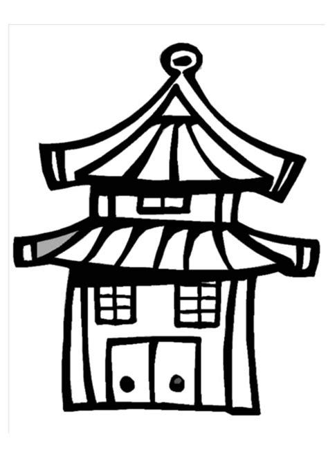 Kleurplaat Chinees Huis by Kleurplaat Huis Afb 13003 Images