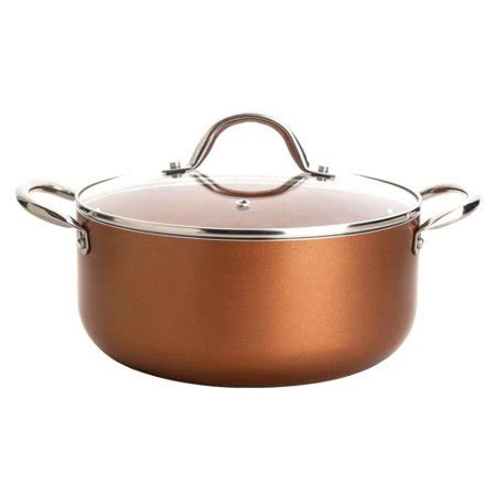 culinary edge  piece titanium copper infused ceramic induction ready cookware set walmart