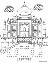 Coloring Mahal Taj Adult Printable India Colouring Favoreads Sheets Crafts Sights Creative sketch template
