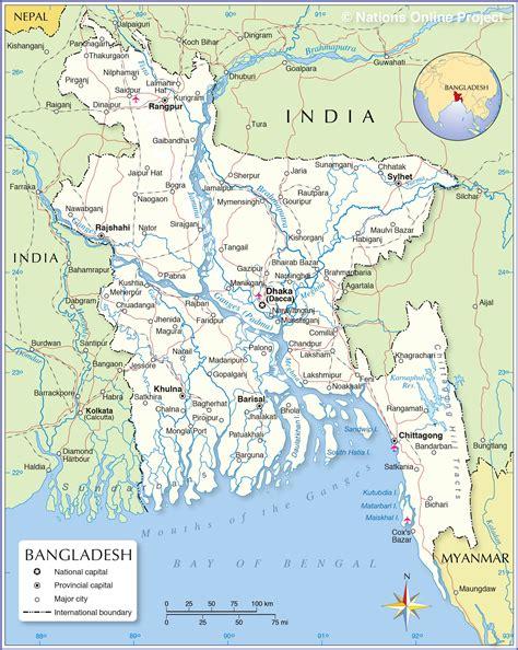 political map  bangladesh nations  project