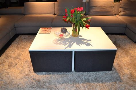 simple  clever coffee table design  integrated