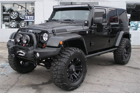 jeep wrangler rubicon modified 2013 custom black jeep wrangler unlimited rubicon for sale