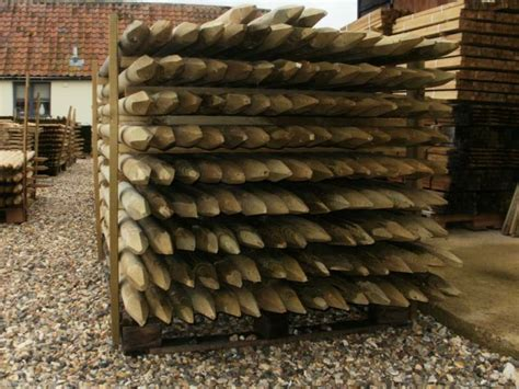 5 1.8m (6ft) X 60mm Round Hc4 Pressure Treated Wooden