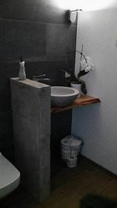 Badezimmer Einrichten Online : ber ideen zu betonoptik auf pinterest fliesen in betonoptik beton cire und fliesen ~ Sanjose-hotels-ca.com Haus und Dekorationen
