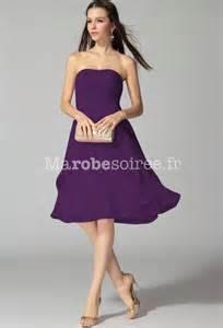 robe cocktail pour mariage robe de soirée pour mariage mi longue en mousseline à bustier
