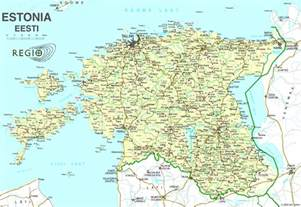 Detailed Map Estonia
