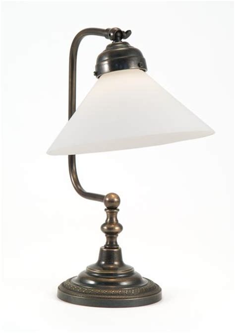 Classic Croft Bedside Lamp With Coolie Acid Etched White