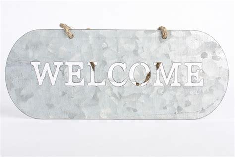 rustic galvanized metal  sign home decor