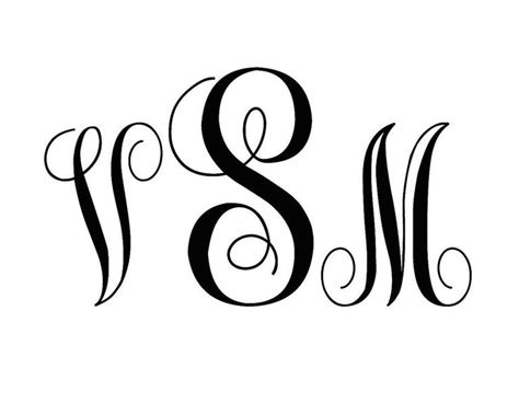 fonts   beautiful monograms monogram fonts silhouette fonts monogram letters