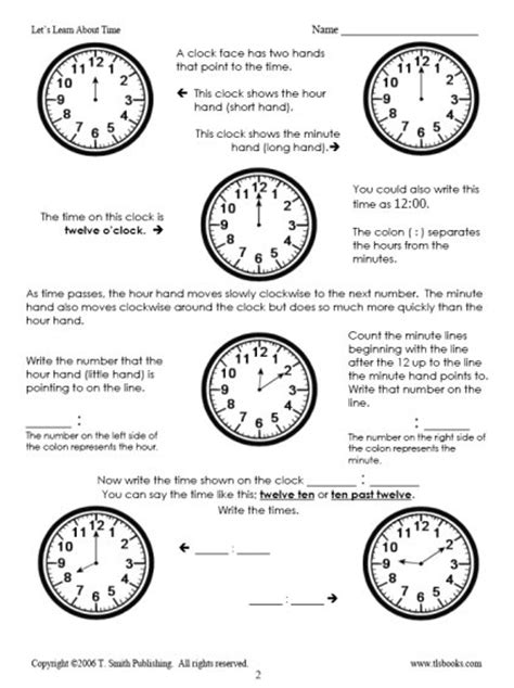 time worksheets packet telling the time packet